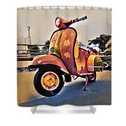 Vintage Scooter Shower Curtain