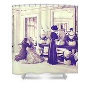 Vintage Seamstress Shower Curtain