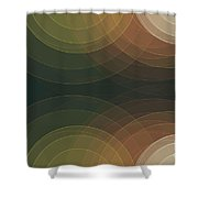Vintage Semi Circle Background Horizontal Shower Curtain