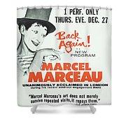 Vintage Show Poster Marcel Marceau Shower Curtain