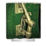 Vintage Sinclair Dino Gas Pump Shower Curtain