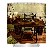 Vintage Singer Sewing Machine Shower Curtain