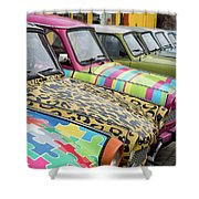 Vintage Small Cars Shower Curtain