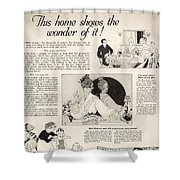 This Home Shows The Wonder Vintage Soap Ad Shower Curtain