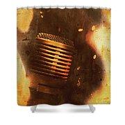 Vintage Sound Check Shower Curtain