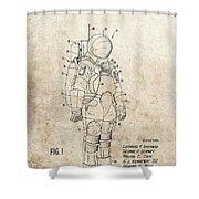 Vintage Space Suit Patent Shower Curtain