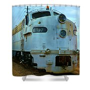 Vintage Steam Engine Shower Curtain