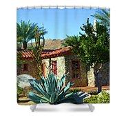 Vintage Stone House Shower Curtain