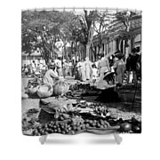 Vintage Street Scene In Ponce - Puerto Rico - C 1899 Shower Curtain