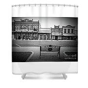 Vintage Street View Shower Curtain
