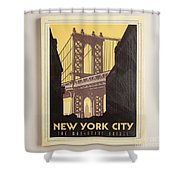 Vintage-style New York City Poster Shower Curtain
