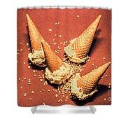 Vintage Summer Ice Cream Spill Shower Curtain