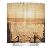 Vintage Sunrise Shower Curtain