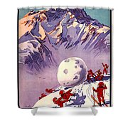 Vintage Swiss Travel Poster Shower Curtain