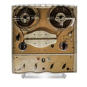 Vintage Tape Sound Recorder Reel To Reel Shower Curtain