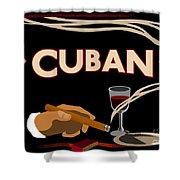 Vintage Tobacco Cuban Cigars Shower Curtain
