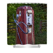 Vintage Tokheim Gas Pump Shower Curtain