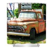 Vintage Tow Truck Shower Curtain