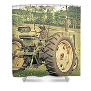 Vintage Tractor Keene New Hampshire Shower Curtain