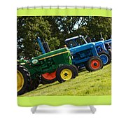 Vintage Tractors Shower Curtain