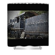 Vintage Train Shower Curtain