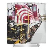 Vintage Train Locomotive Shower Curtain