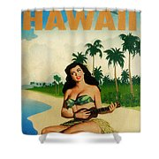 Vintage Travel Hawaii Shower Curtain