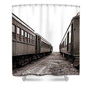 Vintage Travel  Shower Curtain