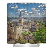 Vintage View Of The Cathedral Shower Curtain