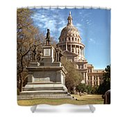 Vintage View Of The Monument To The Confederate Soldiers At The  Shower Curtain