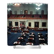 Vintage View Of The Senate Chamber, The Texas Capitol, May 1990 Shower Curtain