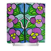 Vintage Violets Shower Curtain