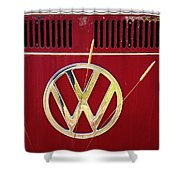 Vintage Vw Bus Logo Shower Curtain
