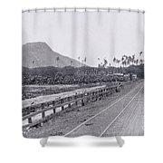 Vintage Waikiki Shower Curtain