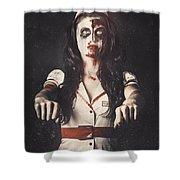 Vintage Walking Dead Horror Nurse Shower Curtain