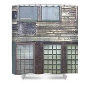 Vintage Warehouse Building Shower Curtain