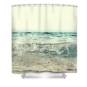 Vintage Waves Shower Curtain