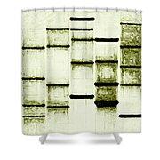 Vintage White  Shower Curtain
