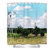 Vintage Windmill Shower Curtain