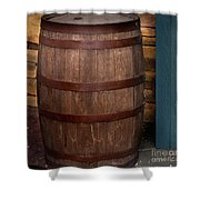 Vintage Wine Barrel Shower Curtain