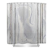 Vintage Wood Panel Shower Curtain