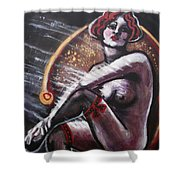 Vintage Years - Black Stockings Shower Curtain