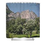 Vintage Yosemite Shower Curtain