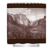 Vintage Yosemite Valley 1899 Shower Curtain