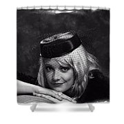 Vintage Young Lady Shower Curtain