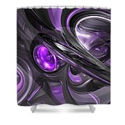 Violaceous Abstract  Shower Curtain