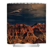 Violent Storm Over The North Rim Grand Canyon National Park Arizona Shower Curtain
