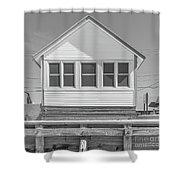 9 - Violet - Flower Cottages Series Shower Curtain