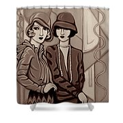 Violet And Rose In Sepia Tone Shower Curtain