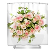 Bouquet Of Garden Roses Shower Curtain